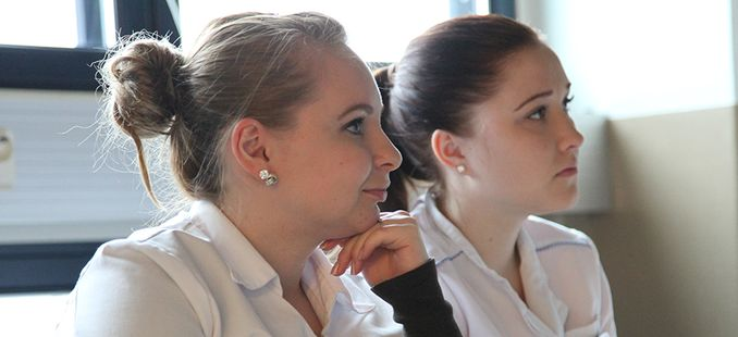 Students from the faculty of Health and Well-being