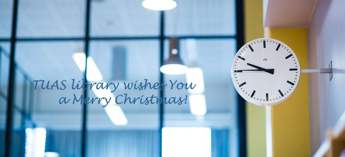 TUAS library Christmas wishes